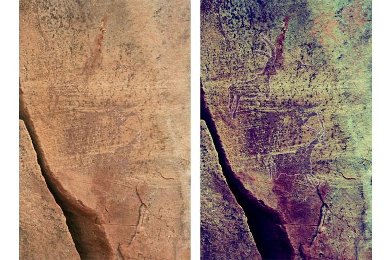A la izquierda imagen original y a la derecha imagen retocada